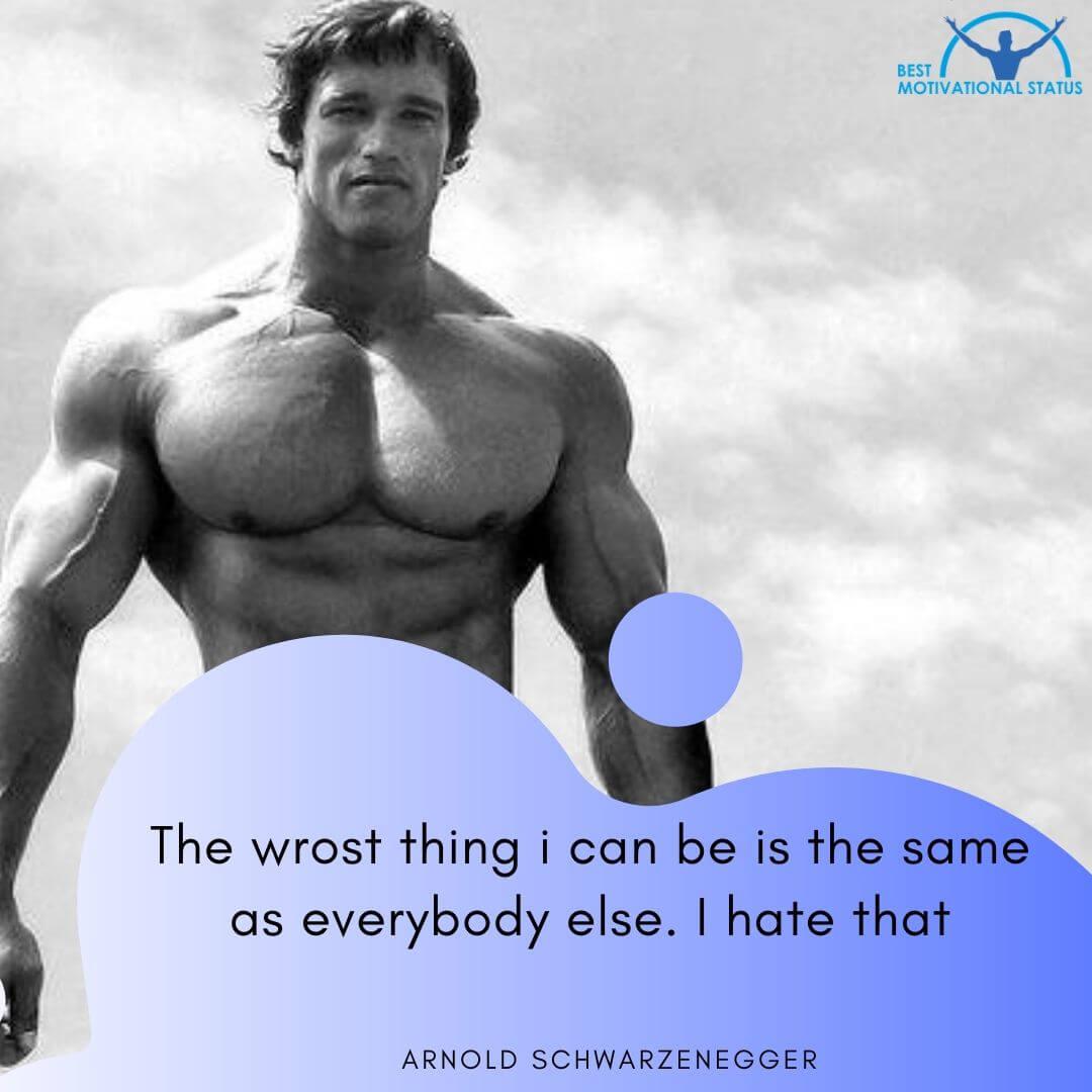 Best Gym Motivation quotes by Arnold Schwarzenegger