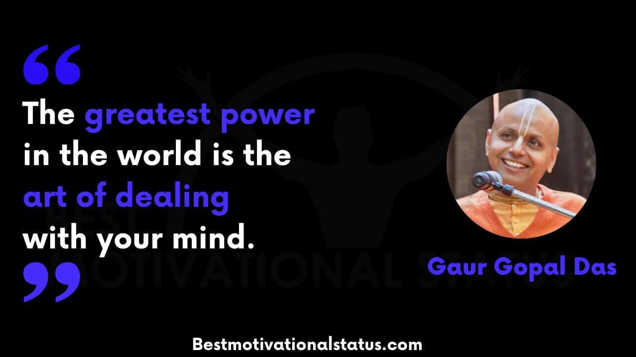 Motivational Gaur Gopal Das quotes